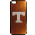 Tennessee Volunteers iPhone 5/5S Etched Case - This ultra cool hard shell snap on case provides great protection for the phone while the soft rubber finish adds to your grip to help prevent dropping the phone. This stylish case is finished off with a brushed metal team plate with laser etched team logo. Thank you for shopping with CrazedOutSports.com