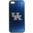 Kentucky Wildcats iPhone 5/5S Etched Case - This ultra cool hard shell snap on case provides great protection for the phone while the soft rubber finish adds to your grip to help prevent dropping the phone. This stylish case is finished off with a brushed metal team plate with laser etched team logo. Thank you for shopping with CrazedOutSports.com
