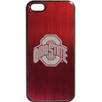Ohio St. Buckeyes iPhone 5/5S Etched Case - This ultra cool hard shell snap on case provides great protection for the phone while the soft rubber finish adds to your grip to help prevent dropping the phone. This stylish case is finished off with a brushed metal Ohio St. Buckeyes team plate with laser etched team logo. Thank you for shopping with CrazedOutSports.com