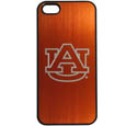 Auburn Tigers iPhone 5/5S Etched Case - This ultra cool hard shell snap on case provides great protection for the phone while the soft rubber finish adds to your grip to help prevent dropping the phone. This stylish case is finished off with a brushed metal team plate with laser etched Auburn Tigers logo. Thank you for shopping with CrazedOutSports.com