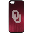 Oklahoma Sooners iPhone 5/5S Etched Case - This ultra cool hard shell snap on case provides great protection for the phone while the soft rubber finish adds to your grip to help prevent dropping the phone. This stylish case is finished off with a brushed metal Oklahoma Sooners team plate with laser etched team logo. Thank you for shopping with CrazedOutSports.com