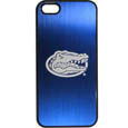 Florida Gators iPhone 5/5S Etched Case - This ultra cool hard shell snap on case provides great protection for the phone while the soft rubber finish adds to your grip to help prevent dropping the phone. This stylish case is finished off with a brushed metal team plate with laser etched Florida Gators team logo. Thank you for shopping with CrazedOutSports.com