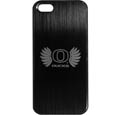 Oregon Ducks iPhone 5/5S Etched Case - This ultra cool hard shell snap on case provides great protection for the phone while the soft rubber finish adds to your grip to help prevent dropping the phone. This stylish case is finished off with a brushed metal team plate with laser etched team logo. Thank you for shopping with CrazedOutSports.com