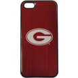 Georgia Bulldogs iPhone 5/5S Etched Case - This ultra cool Georgia Bulldogs hard shell snap on case provides great protection for the phone while the soft rubber finish adds to your grip to help prevent dropping the phone. This stylish Georgia Bulldogs iPhone 5/5S Etched Case is finished off with a brushed metal Georgia Bulldogs team plate with laser etched team logo. Thank you for shopping with CrazedOutSports.com