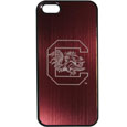 S. Carolina Gamecocks iPhone 5/5S Etched Case - This ultra cool hard shell snap on case provides great protection for the phone while the soft rubber finish adds to your grip to help prevent dropping the phone. This stylish case is finished off with a brushed metal S. Carolina Gamecocks team plate with laser etched team logo. Thank you for shopping with CrazedOutSports.com