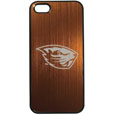 Oregon St. Beavers iPhone 5/5S Etched Case - This ultra cool hard shell snap on case provides great protection for the phone while the soft rubber finish adds to your grip to help prevent dropping the phone. This stylish case is finished off with a brushed metal Oregon St. Beavers team plate with laser etched team logo. Thank you for shopping with CrazedOutSports.com
