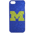 Michigan Wolverines iPhone 5 Crystal Case - Add a little glitz to your game with this Michigan Wolverines iPhone 5 Crystal Case faceplates. This officially licensed flashy Michigan Wolverines iPhone 5 Crystal Case is covered in colored crystals featuring your favorite team logos. The Michigan Wolverines iPhone 5 Crystal Case single piece faceplate slips easily onto your phone while allowing complete access to the phones functionality. A great, fashionable way to protect your phone investment and show off your school pride! Thank you for shopping with CrazedOutSports.com