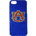 Auburn Tigers iPhone 5 Crystal Case - Add a little glitz to your game with our iPhone 5 Glitz faceplates. These officially licensed flashy cases are covered in colored crystals featuring your favorite team logos. The single piece faceplate slips easily onto your phone while allowing complete access to the phones functionality. A great, fashionable way to protect your phone investment and show off your Auburn Tigers school pride! Thank you for shopping with CrazedOutSports.com
