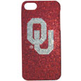 Oklahoma iPhone 5 Crystal Case - Add a little glitz to your game with our iPhone 5 Glitz faceplates. These officially licensed flashy cases are covered in colored crystals featuring your favorite team logos. The single piece faceplate slips easily onto your phone while allowing complete access to the phones functionality. A great, fashionable way to protect your phone investment and show off your school pride! Thank you for shopping with CrazedOutSports.com