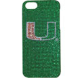 Miami Hurricanes iPhone 5 Crystal Case - Add a little glitz to your game with this Miami Hurricanes iPhone 5 Crystal Case Glitz faceplate. These officially licensed flashy cases are covered in colored crystals featuring your favorite team logos. The single piece faceplate slips easily onto your phone while allowing complete access to the phones functionality. Miami Hurricanes iPhone 5 Crystal Case is a great, fashionable way to protect your phone investment and show off your school pride! Thank you for shopping with CrazedOutSports.com