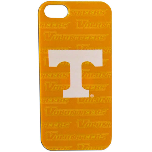 Tennessee iPhone 5G Graphics Case - This one piece collegiate iPhone 5G faceplate features the team's primary logo and silhouetted pattern of the team name. Thank you for shopping with CrazedOutSports.com