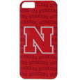 Nebraska Cornhuskers iPhone 5 Graphics Snap on Case - This officially licensed collegiate one piece iPhone 5 snap on case features the team's primary logo and silhouetted pattern of the team name.  Protects your iPhone from bumps, scratches and other mishaps while allowing for complete access to the phone's functionality. Thank you for shopping with CrazedOutSports.com