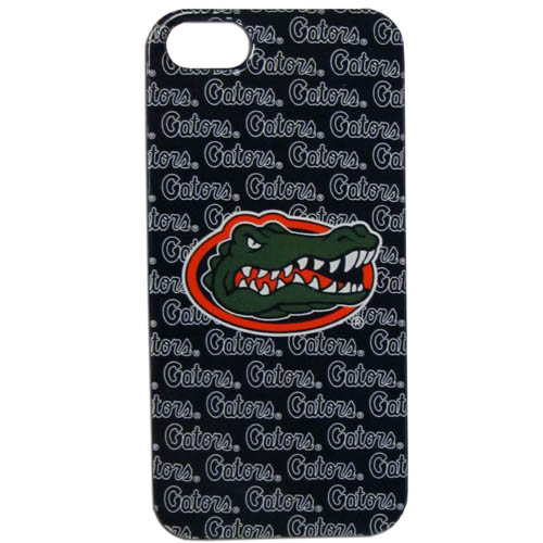 Florida Gators iPhone 5G Graphics Case - This one piece collegiate iPhone 5G faceplate features the Florida Gators team's primary logo and silhouetted pattern of the Florida Gators team name. Thank you for shopping with CrazedOutSports.com