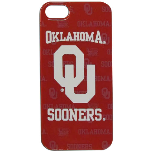 Oklahoma iPhone 5G Graphics Case - This one piece collegiate iPhone 5G faceplate features the team's primary logo and silhouetted pattern of the team name. Thank you for shopping with CrazedOutSports.com