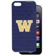 Washington iPhone 5 Graphics Case - This officially licensed collegiate one piece iPhone 5 snap on case features the team's primary logo and silhouetted pattern of the team name.  Protects your iPhone from bumps, scratches and other mishaps while allowing for complete access to the phone's functionality. Thank you for shopping with CrazedOutSports.com