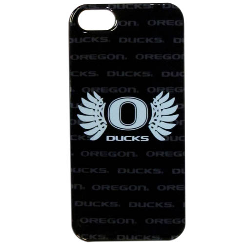 Oregon iPhone 5G Graphics Case - This one piece collegiate iPhone 5G faceplate features the team's primary logo and silhouetted pattern of the team name. Thank you for shopping with CrazedOutSports.com