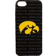 Iowa Hawkeyes iPhone 5 Graphics Case - This officially licensed Iowa Hawkeyes collegiate one piece graphic iPhone 5 snap on case features the team's primary logo and silhouetted pattern of the team name.  Protects your iPhone from bumps, scratches and other mishaps while allowing for complete access to the phone's functionality. Thank you for shopping with CrazedOutSports.com