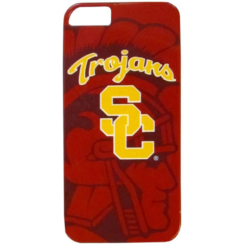 USC iPhone 5 Graphics Snap on Case - This one piece collegiate iPhone 5G snap on case features the team's primary logo and silhouetted pattern of the team name. Thank you for shopping with CrazedOutSports.com