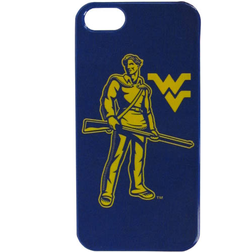 W. Virginia iPhone 5G Graphics Case - This one piece collegiate iPhone 5G faceplate features the team's primary logo and silhouetted pattern of the team name. Thank you for shopping with CrazedOutSports.com