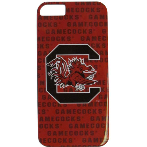 S. Carolina iPhone 5G Graphics Case - This one piece collegiate iPhone 5G faceplate features the team's primary logo and silhouetted pattern of the team name. Thank you for shopping with CrazedOutSports.com