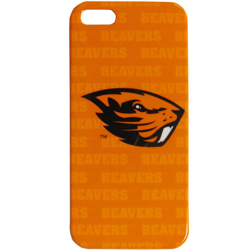 Oregon iPhone 5 Graphics Snap on Case - This officially licensed collegiate one piece iPhone 5 snap on case features the team's primary logo and silhouetted pattern of the team name.  Protects your iPhone from bumps, scratches and other mishaps while allowing for complete access to the phone's functionality. Thank you for shopping with CrazedOutSports.com