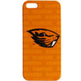 Oregon St. Beavers iPhone 5 Graphics Snap on Case - This officially licensed collegiate one piece iPhone 5 snap on case features the team's primary logo and silhouetted pattern of the team name.  Protects your iPhone from bumps, scratches and other mishaps while allowing for complete access to the phone's functionality. Thank you for shopping with CrazedOutSports.com