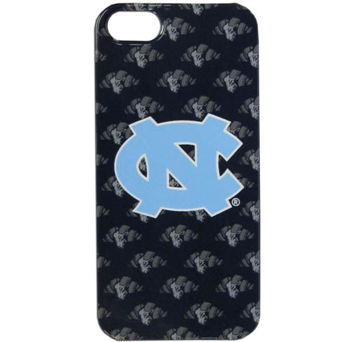 N. Carolina iPhone 5 Graphics Snap on Case - This officially licensed college one piece iPhone 5 snap on case features the team's primary logo and silhouetted pattern of the team name. Thank you for shopping with CrazedOutSports.com