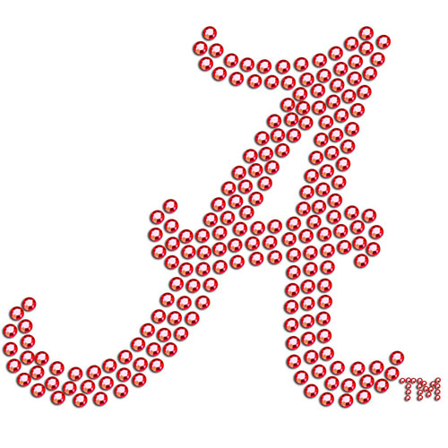 Alabama Crimson Tide Bling Decal - Add a little sparkle to your life with our Alabama Crimson Tide bling decals. Our Alabama Crimson Tide bling decals have individual team colored crystals in the school's primary logo. Check out all our other great NFL, NCAA, MLB, NHL product line up. Thank you for shopping Crazed Out Sports!!