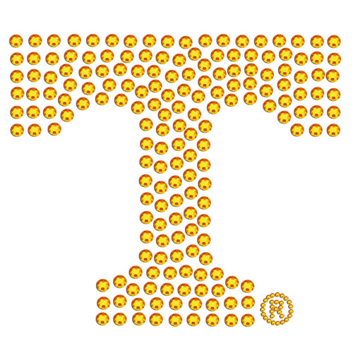 Tennessee Bling Decal - Add a little sparkle to your life with our bling decals. Our bling decals have individual team colored crystals in the school's primary logo. Thank you for shopping with CrazedOutSports.com