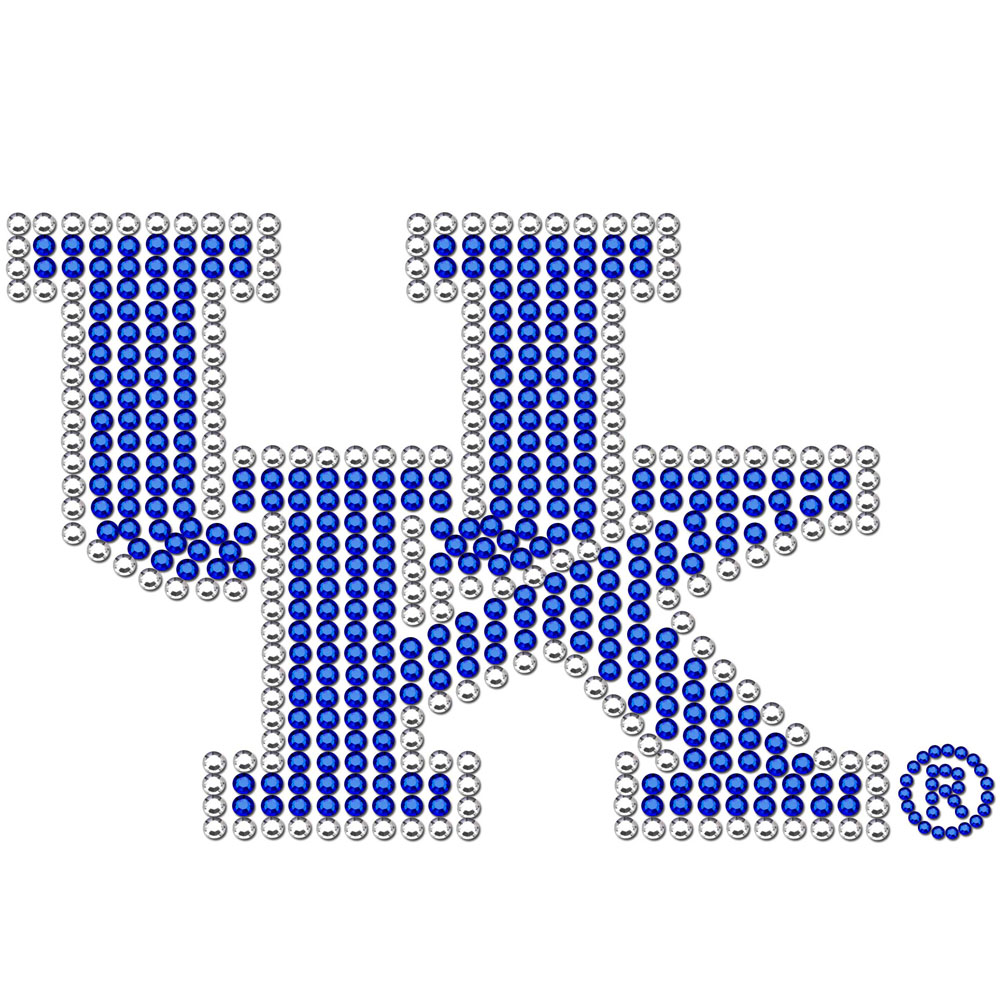 Kentucky Wildcats Bling Decal - Our collegiate bling decals have individual team colored crystals that shimmer and shine your love of the game. A must have for a Kentucky Wildcats fan!