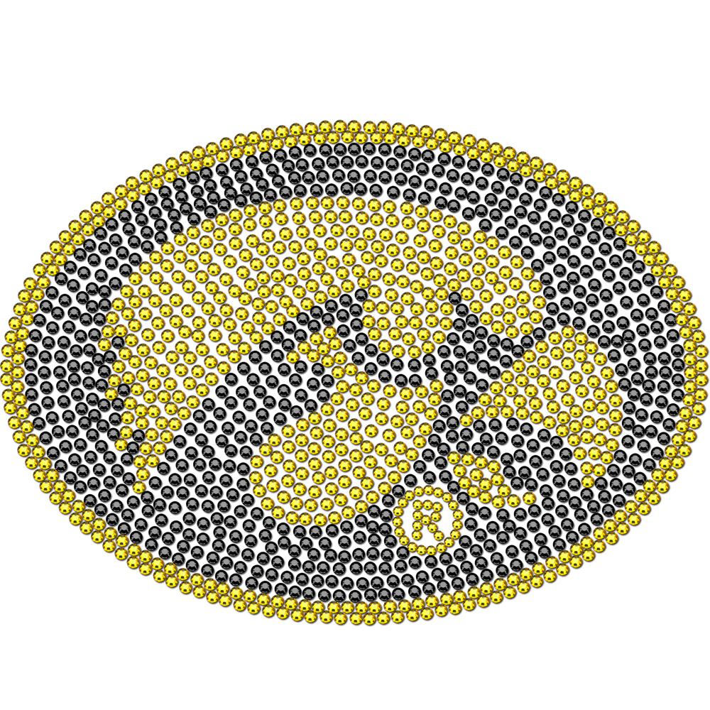 Iowa Hawkeyes Bling Decal - Our collegiate bling decals have individual team colored crystals that shimmer and shine your love of the game. A must have for a Iowa Hawkeyes fan!