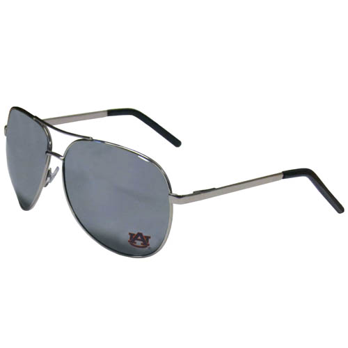 Auburn Tigers Aviator Sunglasses - Our collegiate aviator sunglasses have the iconic aviator style with mirrored lenses and metal frames. The glasses feature a silk screened Auburn Tigers logo in the corner of the lense. 100% UVA/UVB protection. Thank you for shopping with CrazedOutSports.com