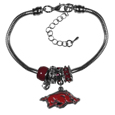 Arkansas Razorbacks Euro Bead Bracelet