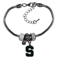 Michigan St. Spartans Euro Bead Bracelet