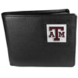 Texas A & M Aggies Leather Bi-fold Wallet Packaged in Gift Box
