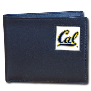 College Bifold Wallet - Cal Berkeley Bears - Our  college Bi-fold wallet is made of high quality fine grain leather and includes credit card slots and photo sleeves. Cal Berkeley Bears logo is sculpted and enameled with fine detail on the front panel.  Thank you for shopping with CrazedOutSports.com