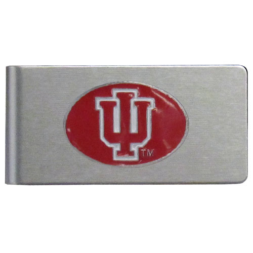 Indiana Hoosiers Brushed Money Clip - This quality Indiana Hoosiers college money clip has a brushed metal finish and features a fully cast and hand enameled school logo. Thank you for shopping with CrazedOutSports.com