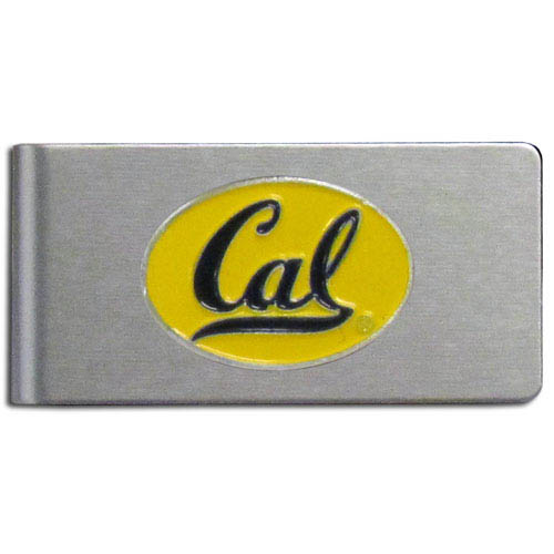 Berkeley Brushed Money Clip - This quality college money clip has a brushed metal finish and features a fully cast and hand enameled school logo. Thank you for shopping with CrazedOutSports.com