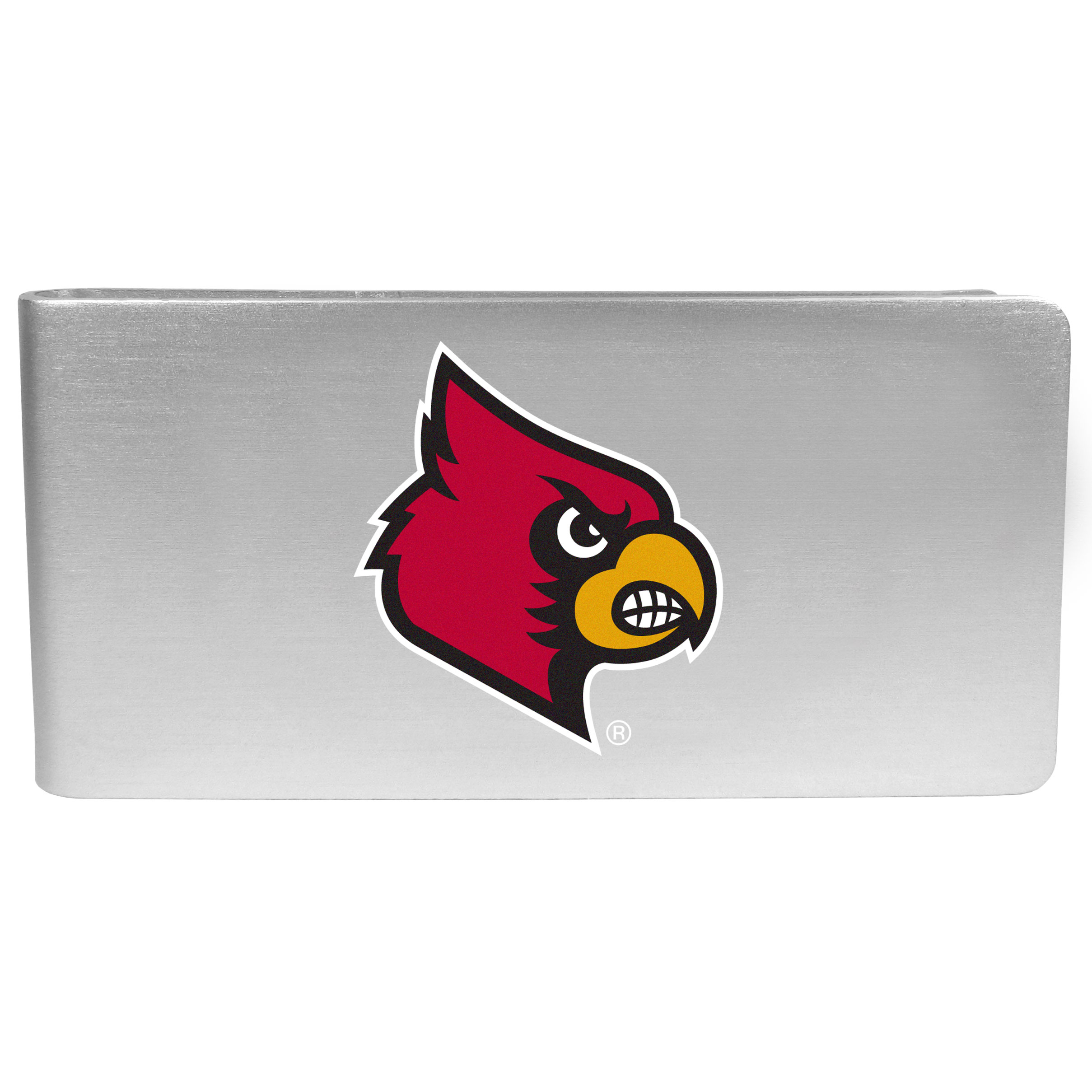 Louisville Cardinals Logo Money Clip - Our brushed metal money clip has classic style and functionality. The attractive clip features the Louisville Cardinals logo expertly printed on front.
