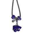 Kansas St. Wildcats Euro Bead Necklace