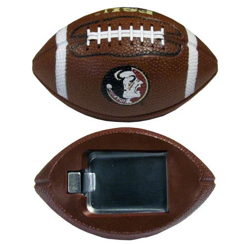 "Florida St. Seminoles Bottle Opener Magnet - Our football bottle opener magnets are 3.5"" 3D football magnets with bottle openers. The football replica magnets keep a bottle opener in handy while showing off your Florida St. Seminoles team pride! Thank you for shopping with CrazedOutSports.com"