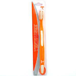 College Team Toothbrush - Tennessee Volunteers - A great way to show off your team spirit! Our College Licensed toothbrushes have opposing angled bristles to reach between teeth with each forward and backward stroke. The extended tip accesses hard-to-reach areas of the mouth. Thank you for shopping with CrazedOutSports.com