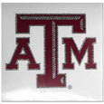 Texas A and M Aggies Vinyl Bling Decals - Travel to the game in style! These 6 inch vinyl decals have crystal borders that shimmer and shine your Texas A & M Aggies pride. The crisp team graphics and crystal come on a single sheet for easy application to your car or your window. Thank you for shopping with CrazedOutSports.com