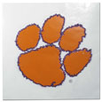 Clemson Tigers Vinyl Bling Decals - Travel to the game in style! These 6 inch vinyl decals have crystal borders that shimmer and shine your Clemson Tigers pride. The crisp team graphics and crystal come on a single sheet for easy application to your car or your window. Thank you for shopping with CrazedOutSports.com