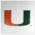 Miami Hurricanes Vinyl Bling Decal - Travel to the game in style! This 6 inch vinyl decal has crystal borders that shimmer and shine your Miami Hurricanes pride. TheMiami Hurricanes Vinyl Bling Decal has crisp team graphics and crystal come on a single sheet for easy application to your car or your window. Thank you for shopping with CrazedOutSports.com