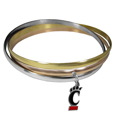 Cincinnati Bearcats Tri-color Bangle Bracelet