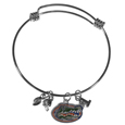 Florida Gators Charm Bangle Bracelet - Adjustable wire bracelets are all the rage and this Florida Gators bracelet matches the popular trend with your beloved Florida Gators team. The bracelet features 4 charms in total, each feature exceptional detail and the team charm has enameled team colors.