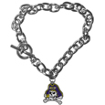 East Carolina Pirates Charm Chain Bracelet