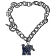 Memphis Tigers Charm Chain Bracelet - Memphis Tigers Charm Chain Bracelet is a great way to show off your team pride! The Memphis Tigers Charm Chain Bracelet is a 7.5 inch large link chain that features a high polish Memphis Tigers charm and features a toggle clasp which makes it super easy to take on and off.  Thank you for shopping with CrazedOutSports.com