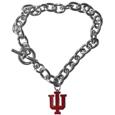 Indiana Hoosiers Charm Chain Bracelet